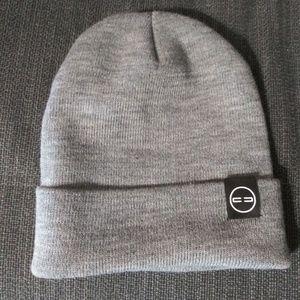Light Grey Beanine Cap with Logo
